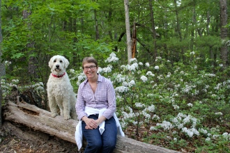 Mari and I in the Mountain Laurel
